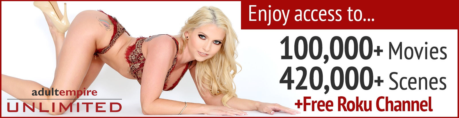 Stream over 100k adult movies on The Adult Empire Unlimited Roku Channel